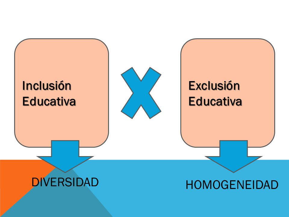 Inclusión Educativa Exclusión Educativa DIVERSIDAD HOMOGENEIDAD