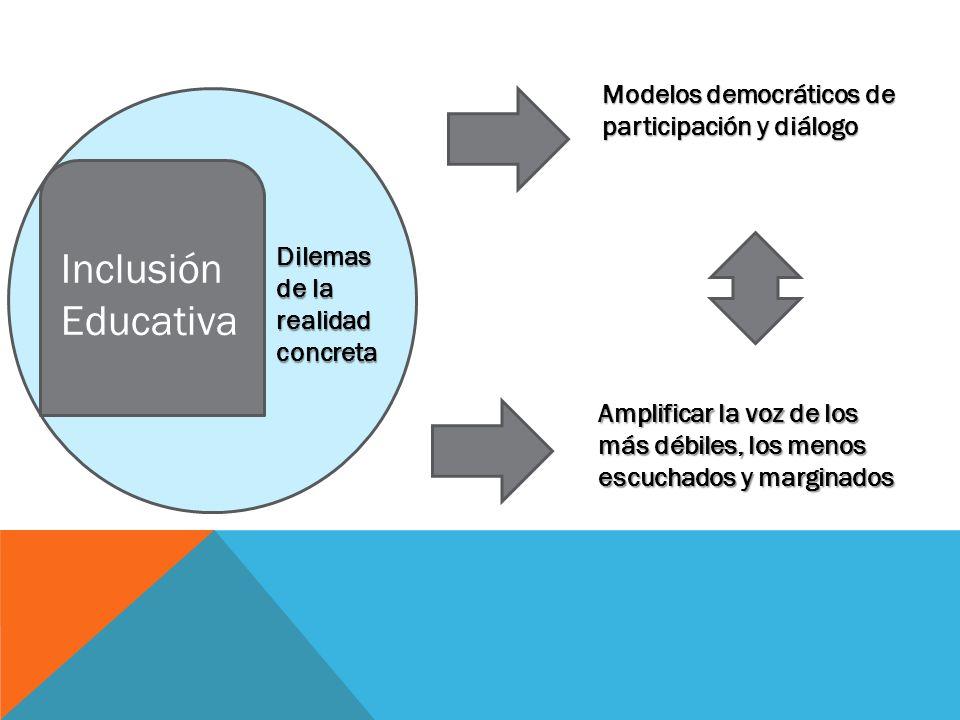 Inclusión Educativa Modelos democráticos de participación y diálogo