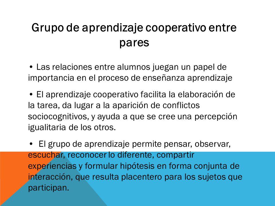Grupo de aprendizaje cooperativo entre pares