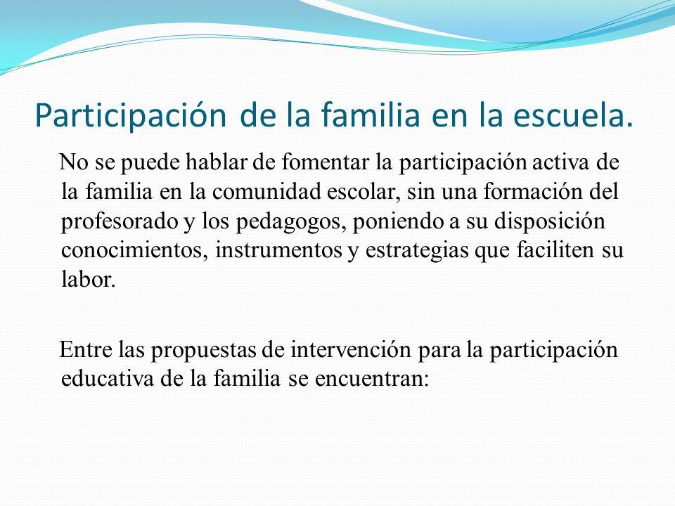 Participación de la familia en la escuela.
