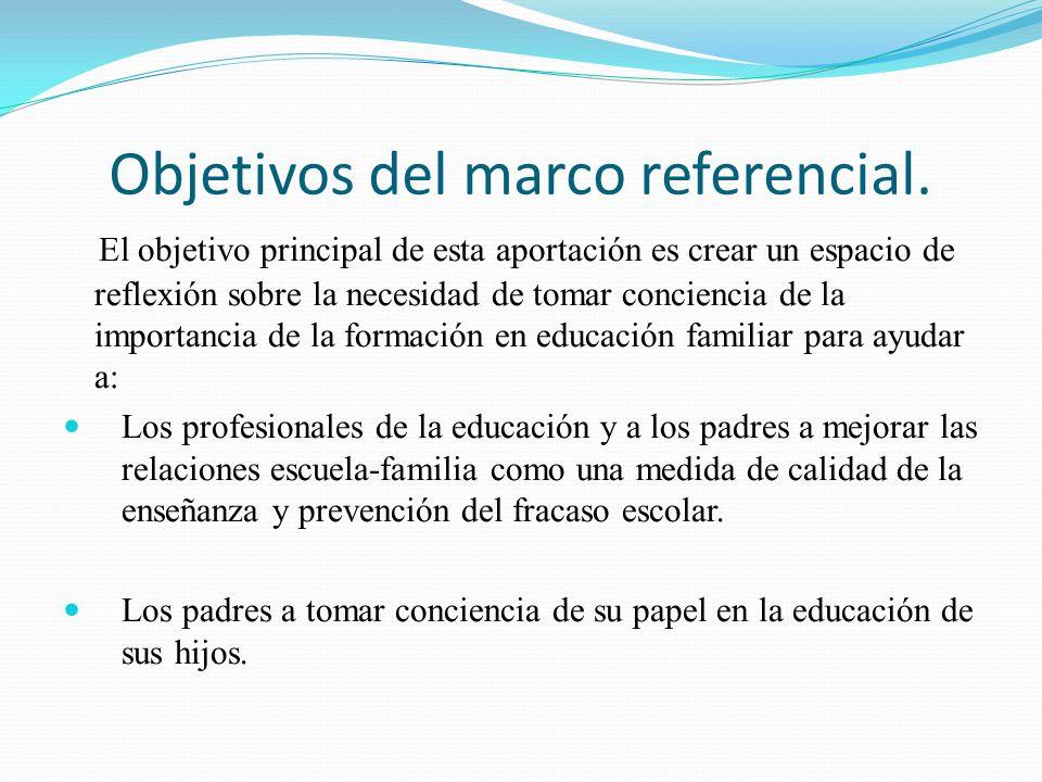 Objetivos del marco referencial.