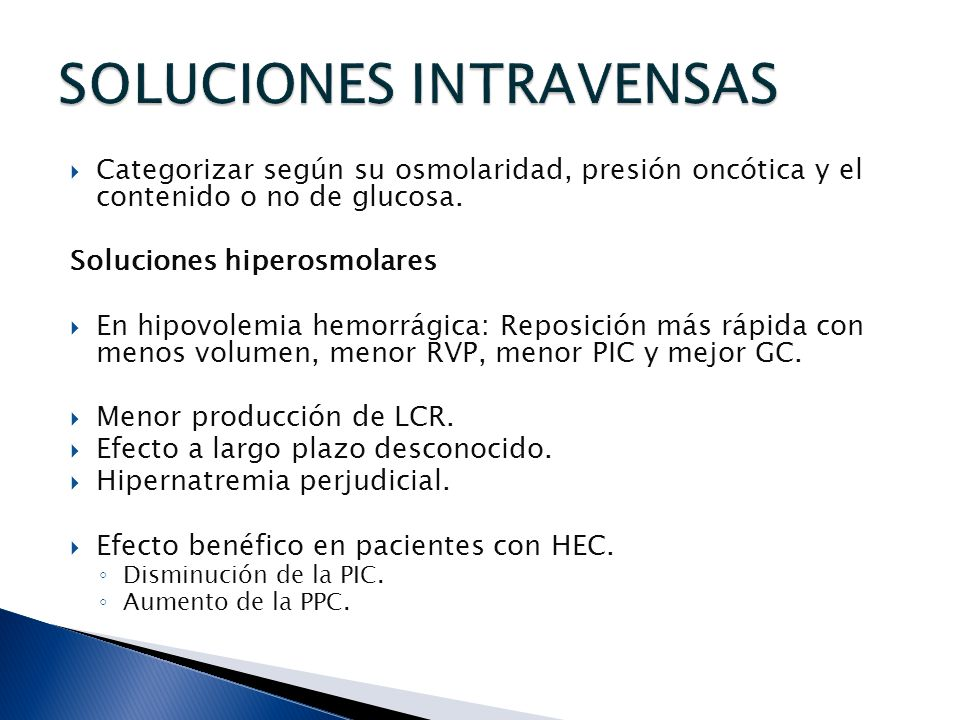 SOLUCIONES INTRAVENSAS
