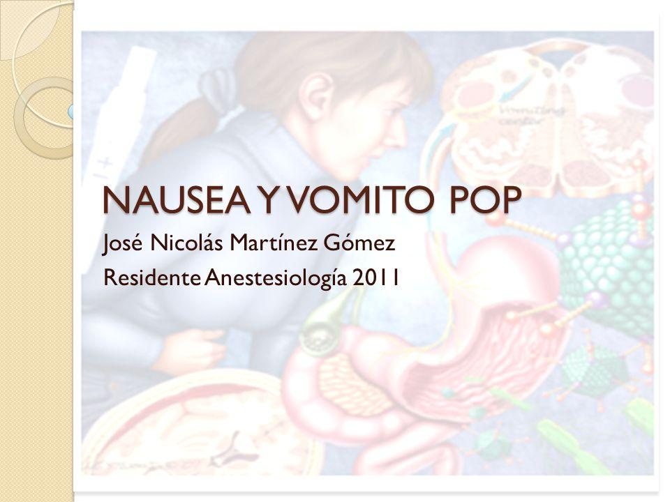 José Nicolás Martínez Gómez Residente Anestesiología 2011