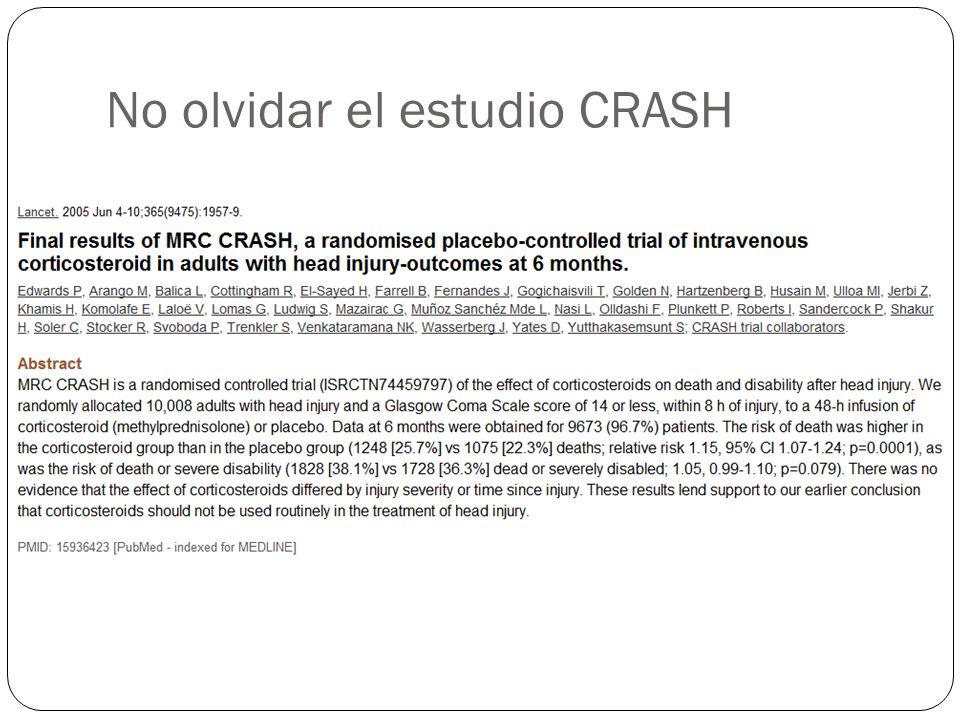 No olvidar el estudio CRASH