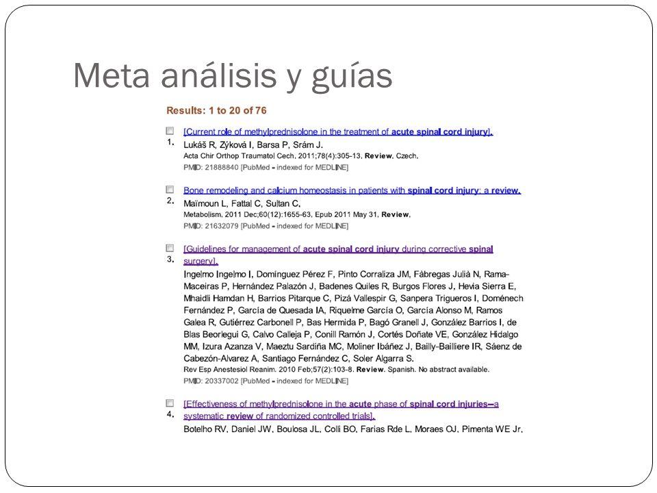 Meta análisis y guías