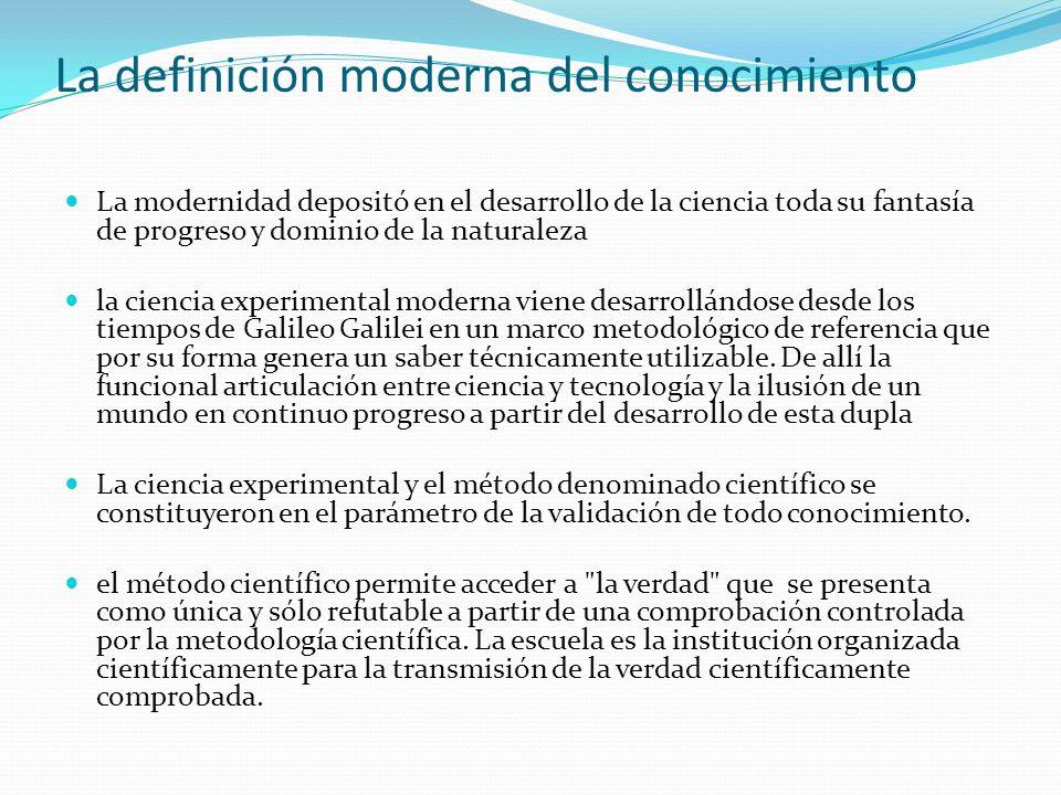 La definición moderna del conocimiento