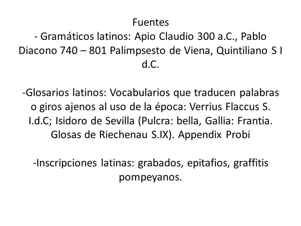 Fuentes - Gramáticos latinos: Apio Claudio 300 a. C