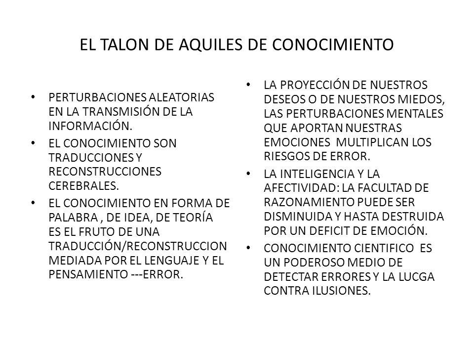 EL TALON DE AQUILES DE CONOCIMIENTO