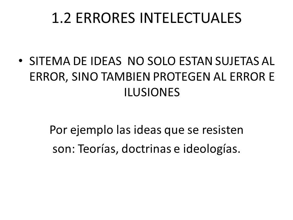 1.2 ERRORES INTELECTUALES