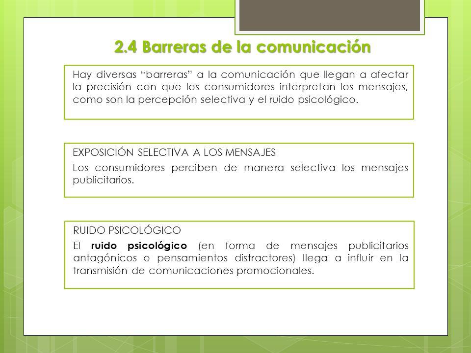 2.4 Barreras de la comunicación