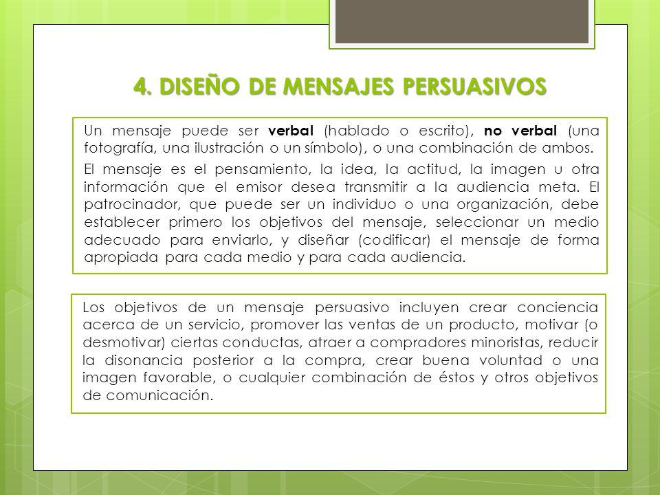 4. DISEÑO DE MENSAJES PERSUASIVOS