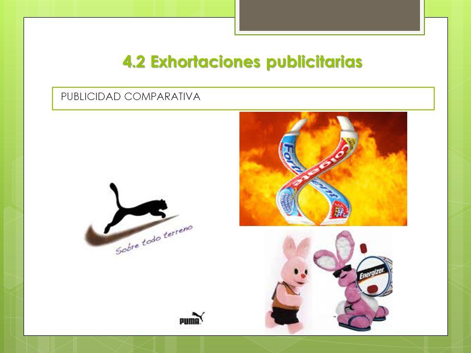 4.2 Exhortaciones publicitarias
