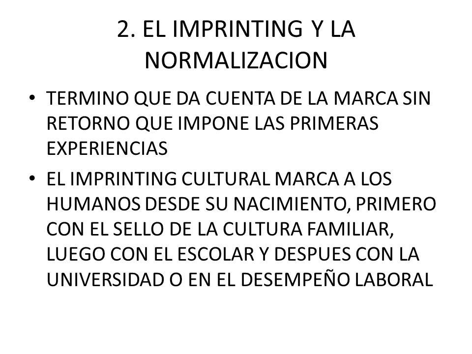 2. EL IMPRINTING Y LA NORMALIZACION