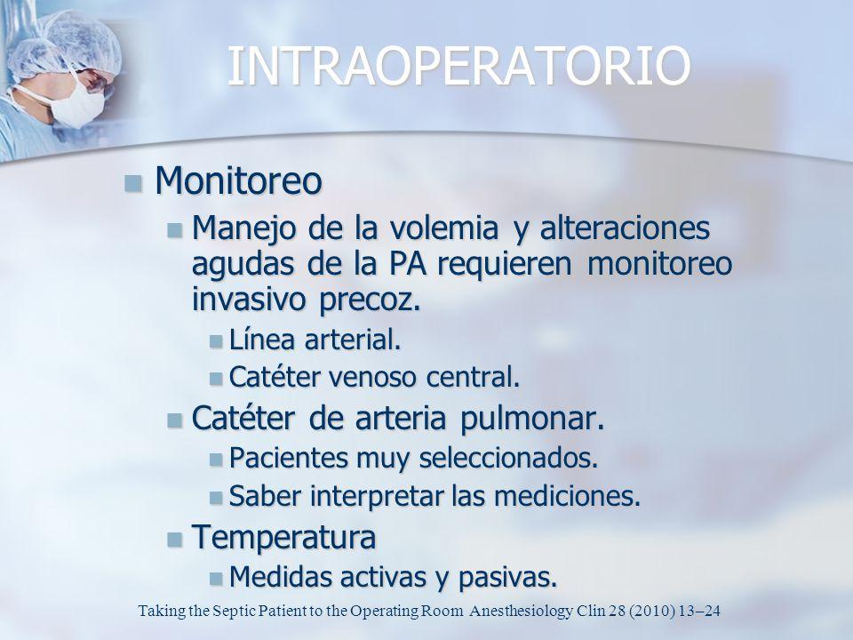 INTRAOPERATORIO Monitoreo
