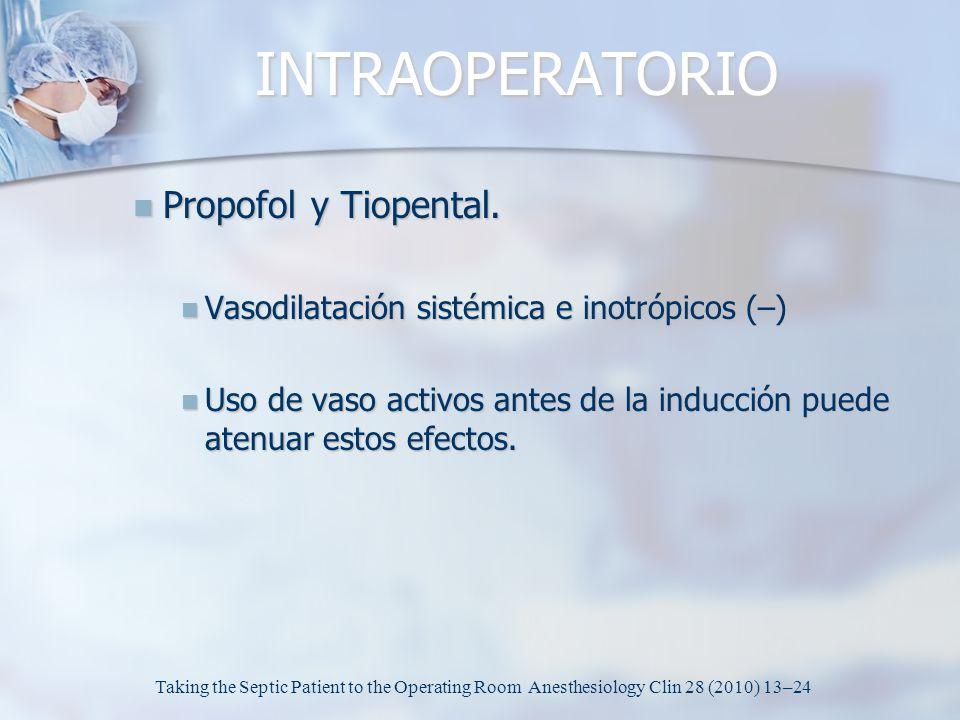 INTRAOPERATORIO Propofol y Tiopental.