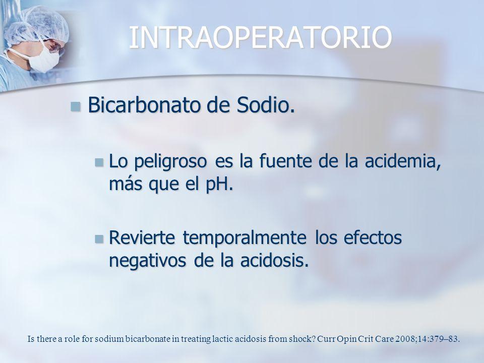 INTRAOPERATORIO Bicarbonato de Sodio.