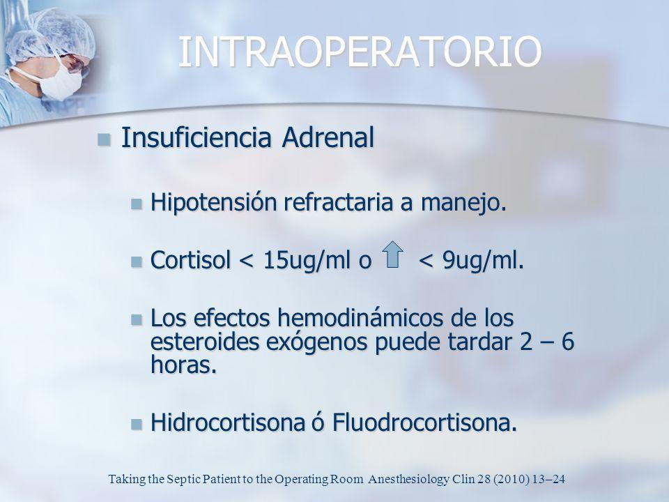 INTRAOPERATORIO Insuficiencia Adrenal