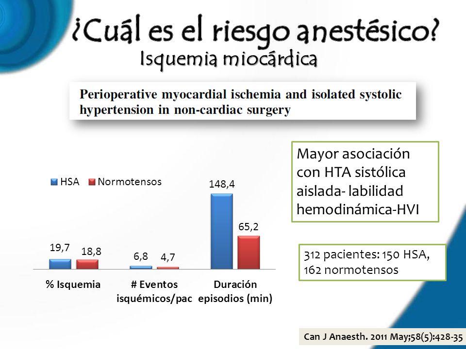 ¿Cuál es el riesgo anestésico