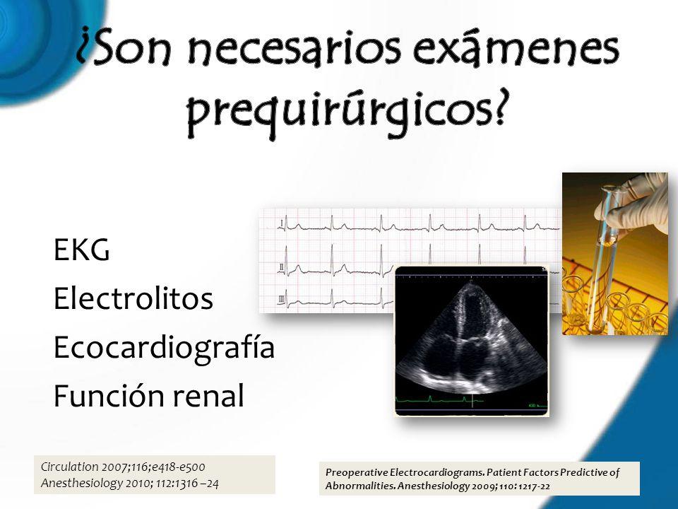 ¿Son necesarios exámenes prequirúrgicos