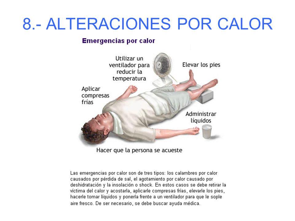 8.- ALTERACIONES POR CALOR