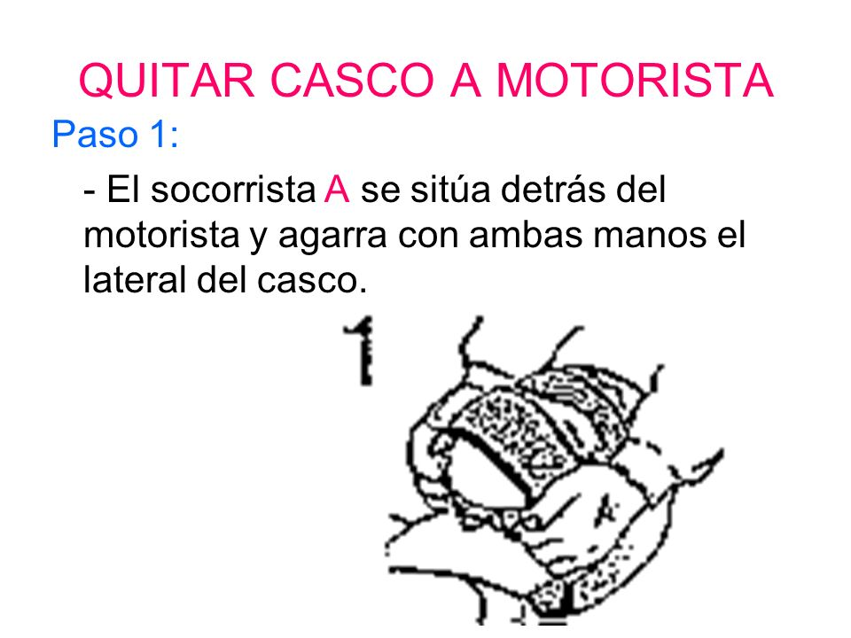 QUITAR CASCO A MOTORISTA