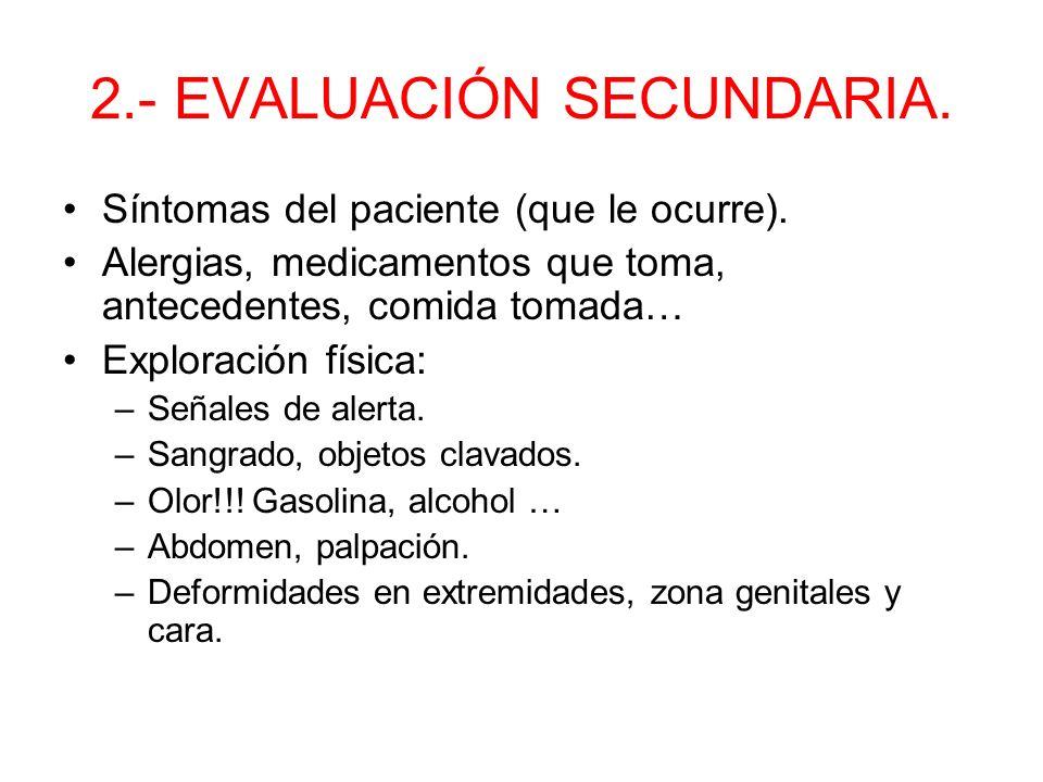 2.- EVALUACIÓN SECUNDARIA.