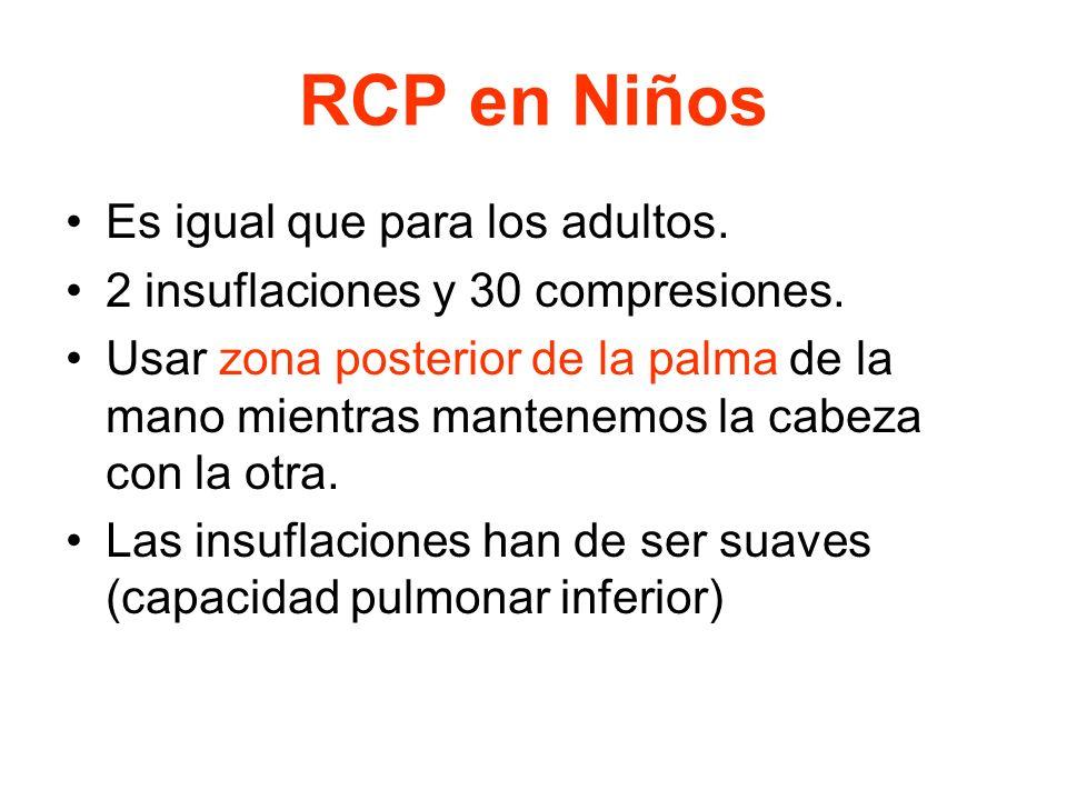 RCP en Niños Es igual que para los adultos.