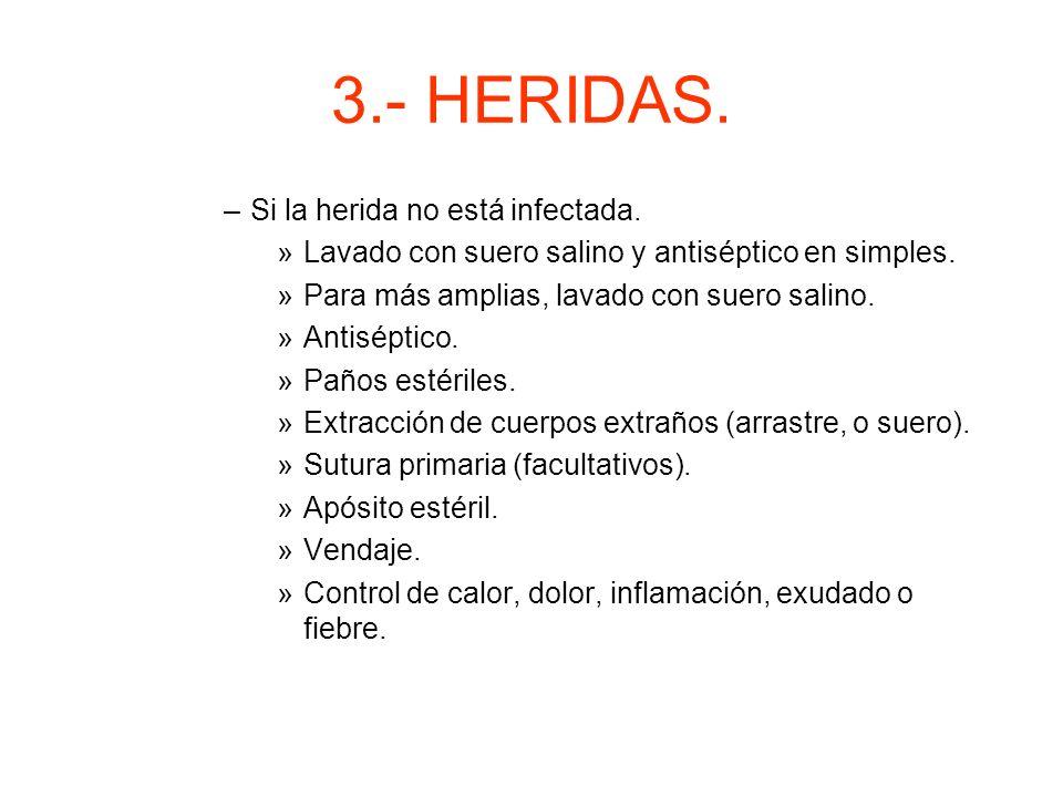 3.- HERIDAS. Si la herida no está infectada.