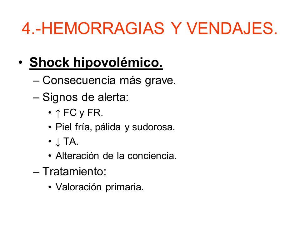 4.-HEMORRAGIAS Y VENDAJES.