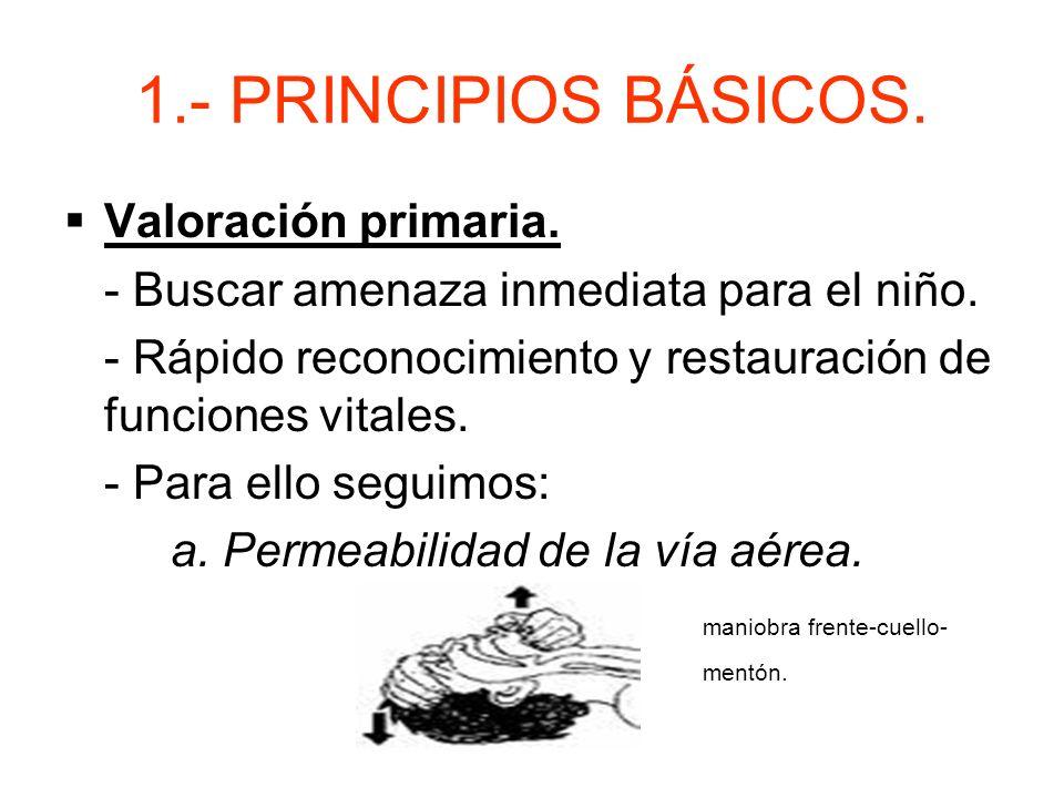 1.- PRINCIPIOS BÁSICOS. Valoración primaria.