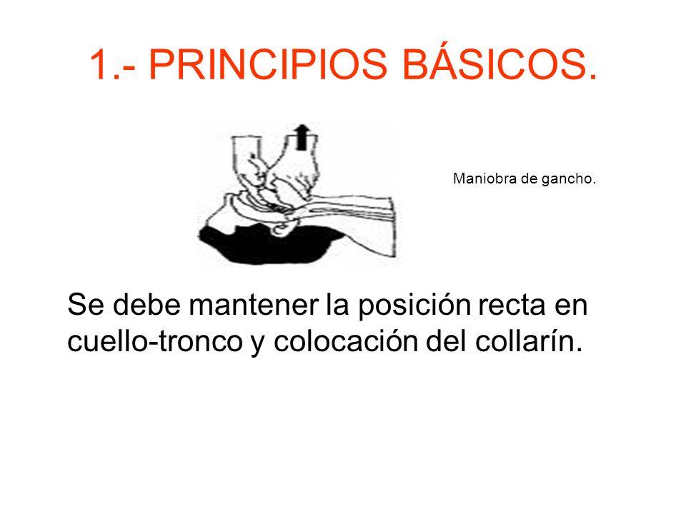 1.- PRINCIPIOS BÁSICOS. Maniobra de gancho.