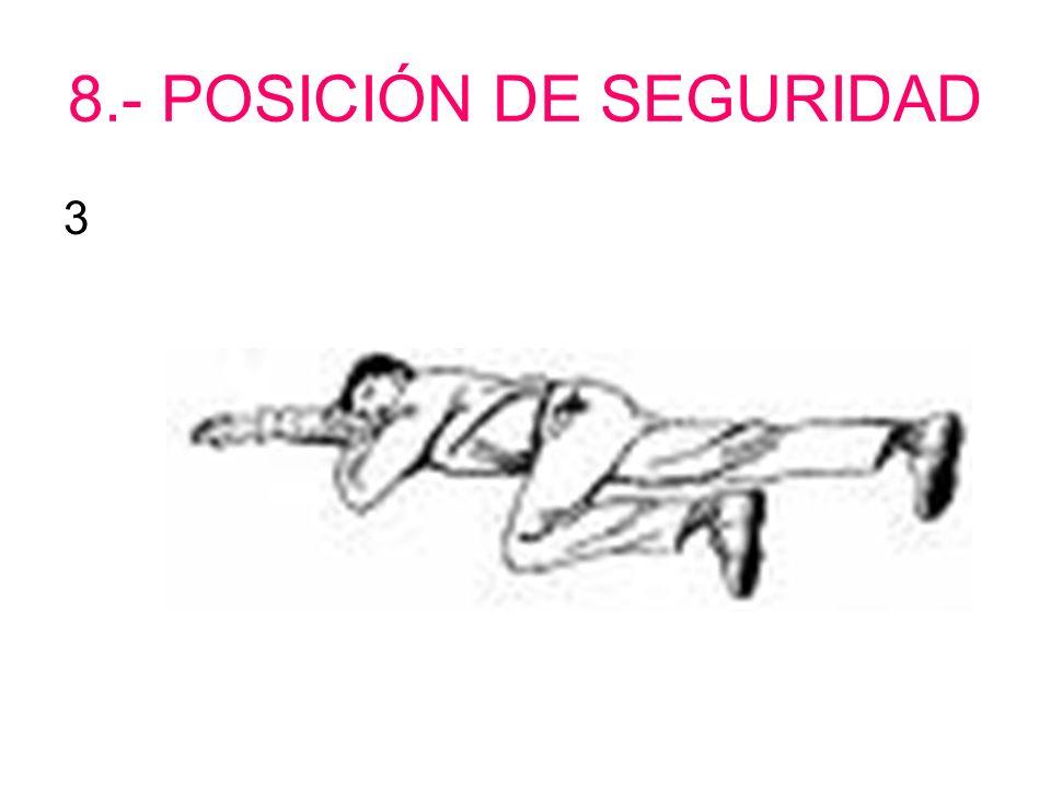 8.- POSICIÓN DE SEGURIDAD