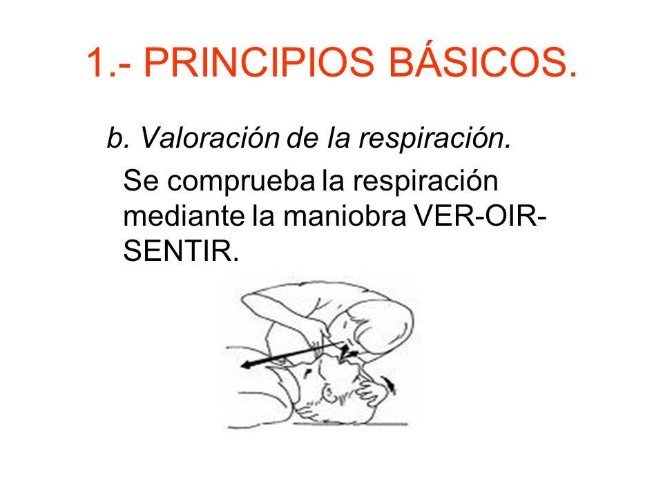 1.- PRINCIPIOS BÁSICOS. b. Valoración de la respiración.