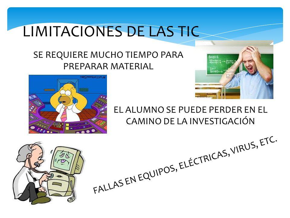 LIMITACIONES DE LAS TIC