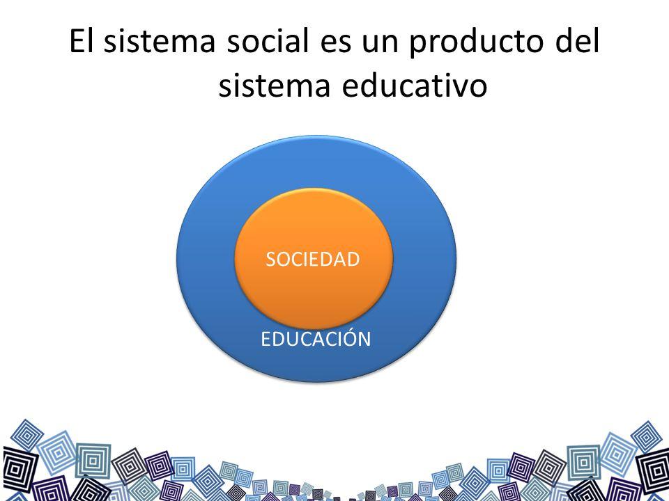El sistema social es un producto del sistema educativo