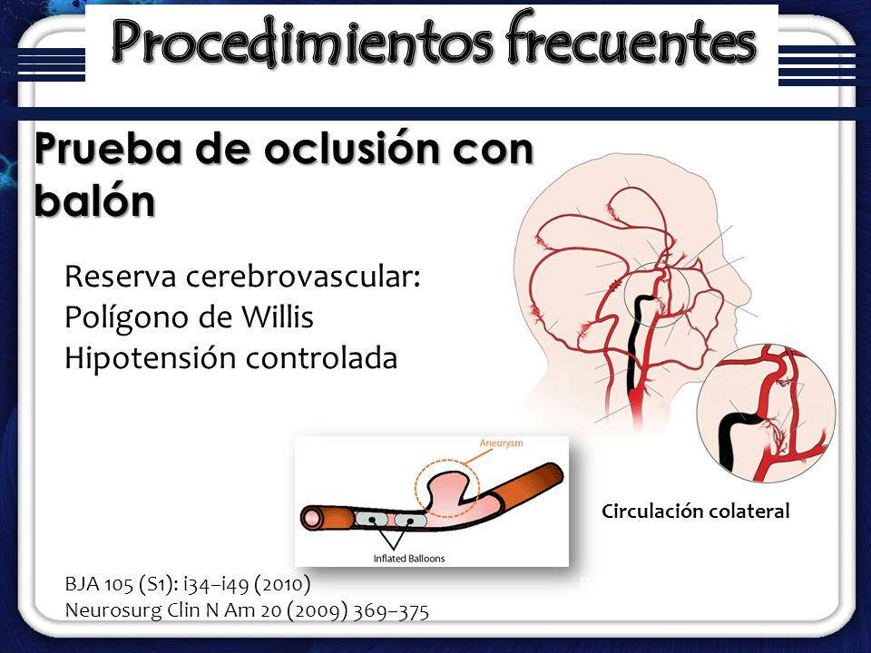 Procedimientos frecuentes Circulación colateral