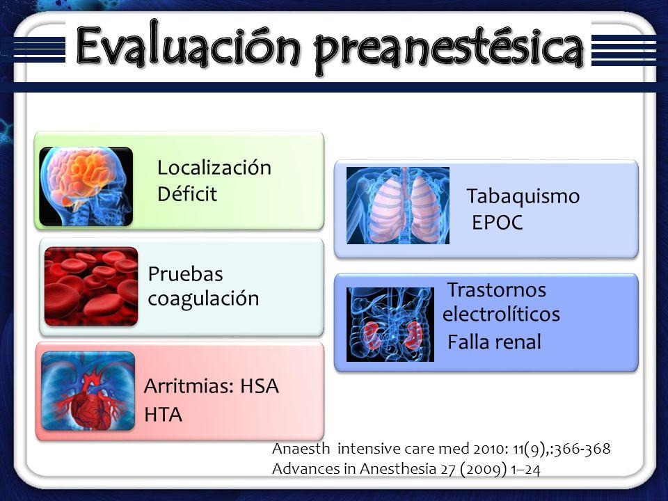 Evaluación preanestésica