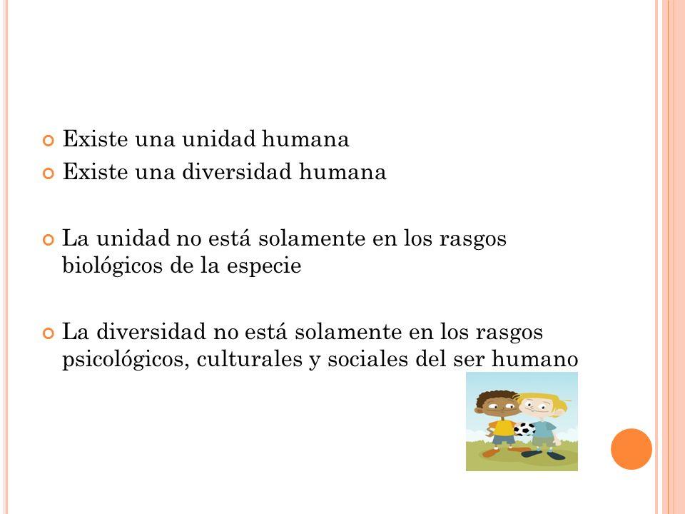 Existe una unidad humana