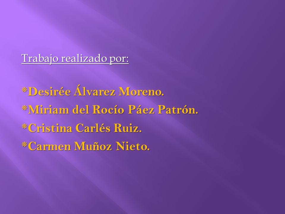 *Desirée Álvarez Moreno. *Miriam del Rocío Páez Patrón.