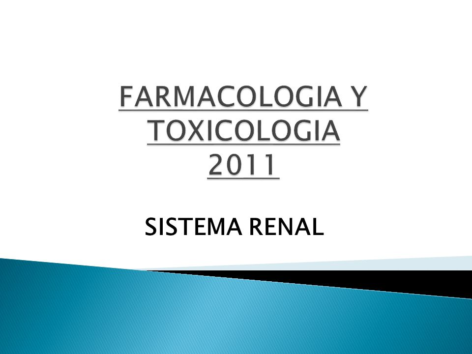 FARMACOLOGIA Y TOXICOLOGIA 2011