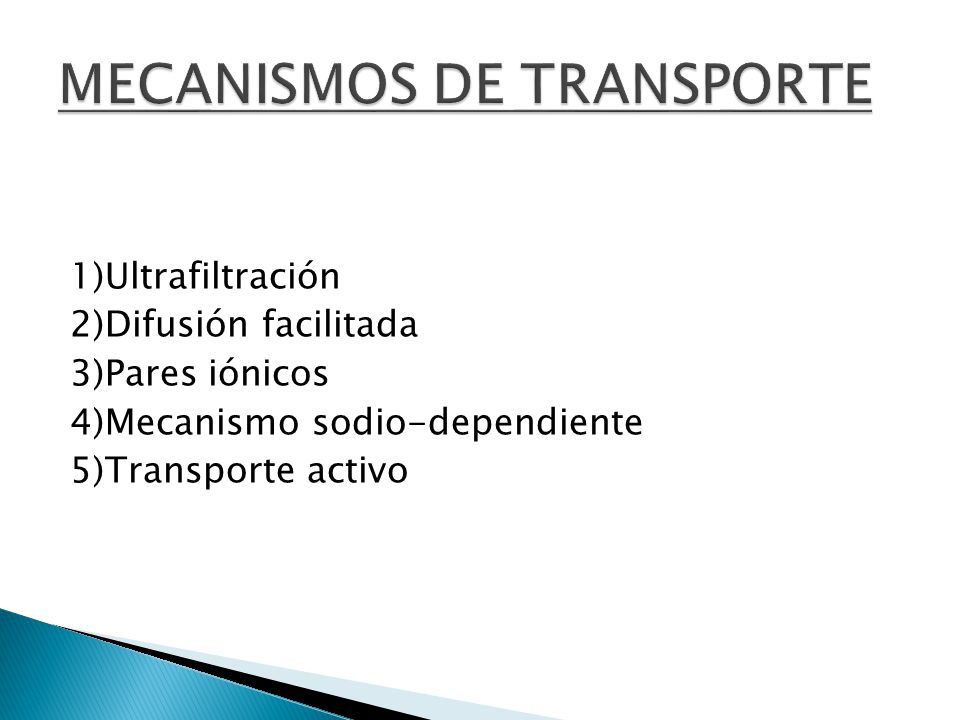 MECANISMOS DE TRANSPORTE