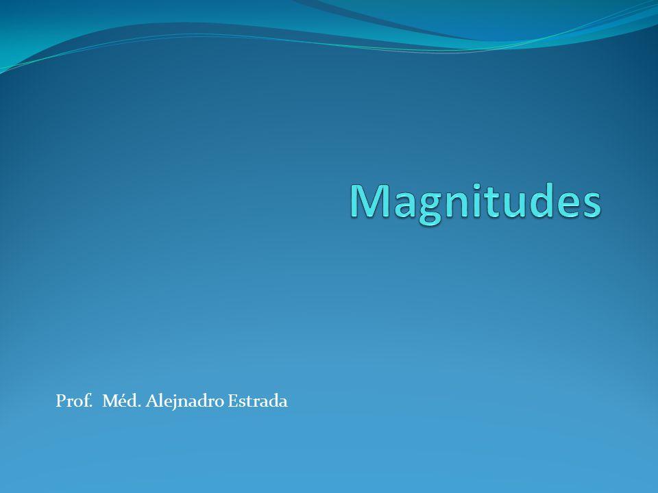 Magnitudes Prof. Méd. Alejnadro Estrada