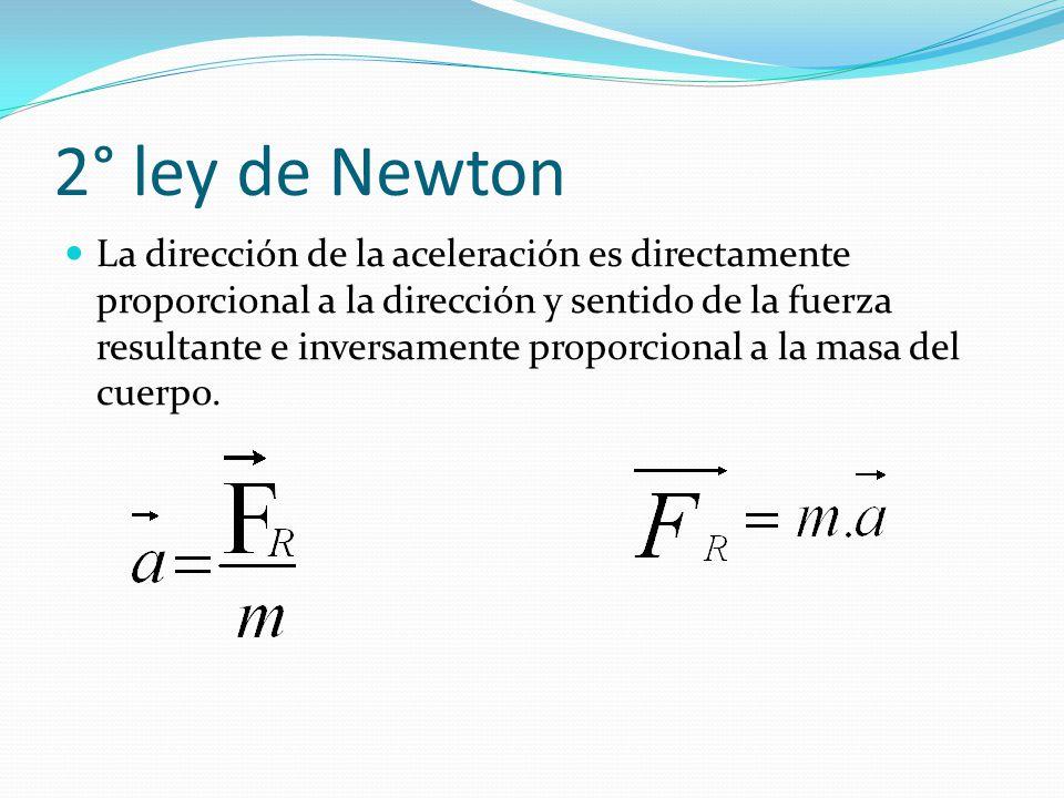 2° ley de Newton