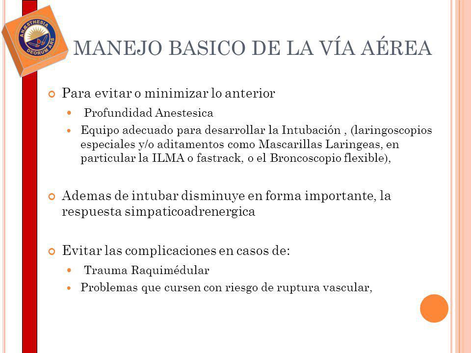 MANEJO BASICO DE LA VÍA AÉREA
