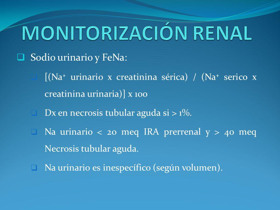MONITORIZACIÓN RENAL Sodio urinario y FeNa: