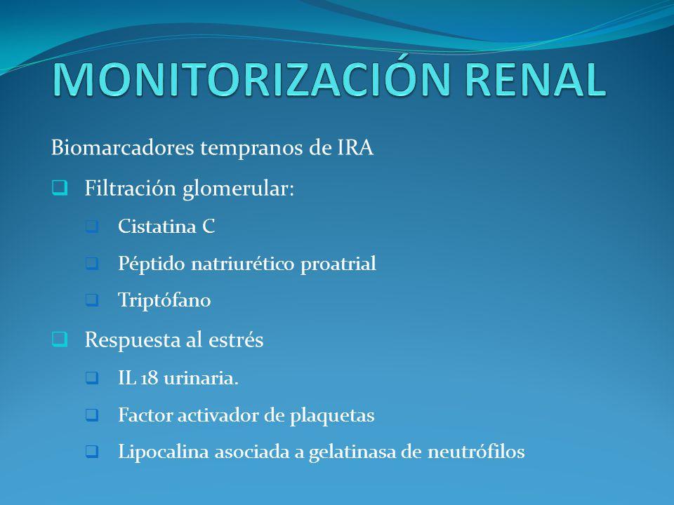 MONITORIZACIÓN RENAL Biomarcadores tempranos de IRA