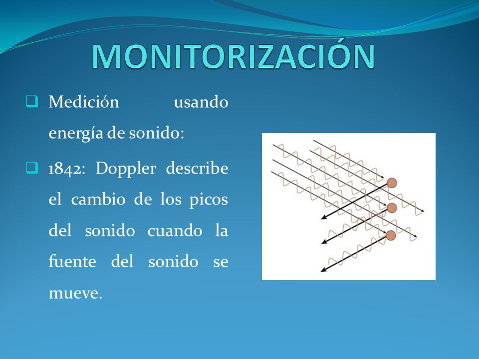 MONITORIZACIÓN Medición usando energía de sonido: