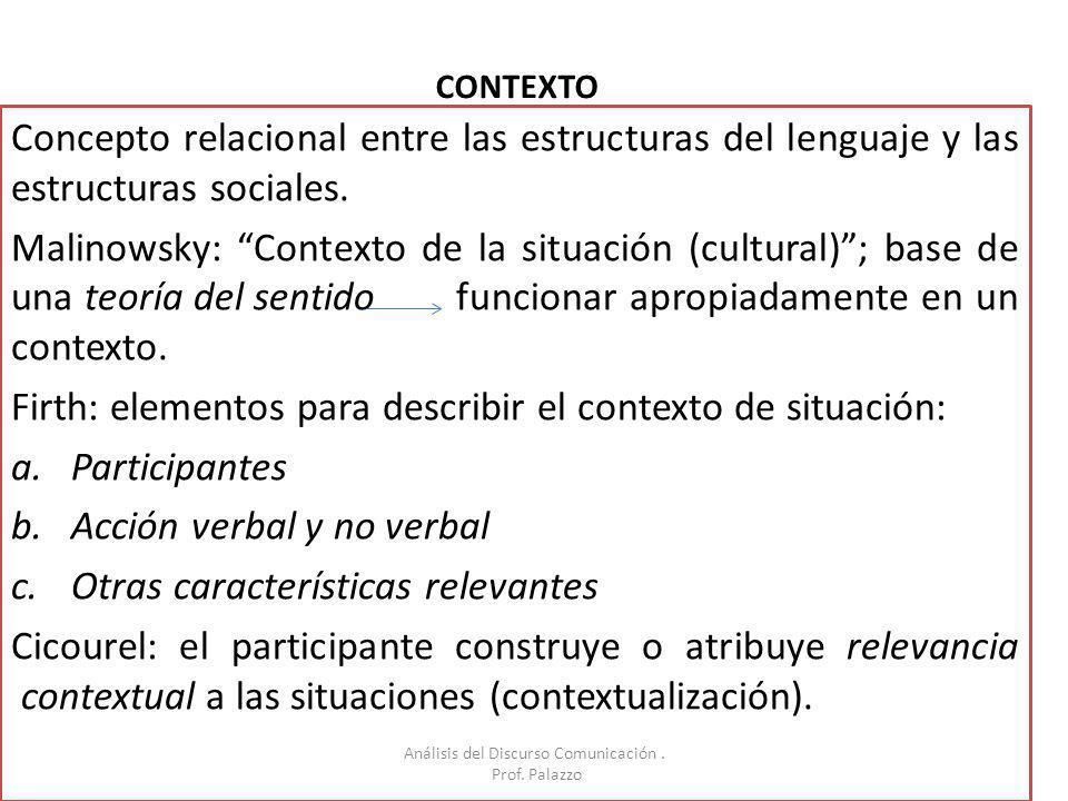 Análisis del Discurso Comunicación .