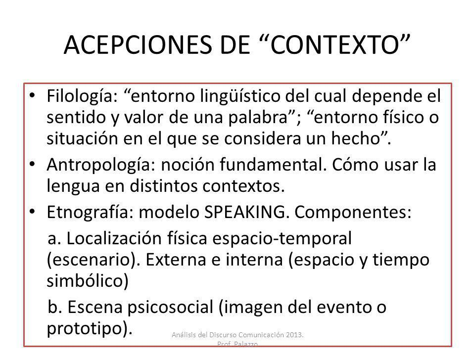 ACEPCIONES DE CONTEXTO