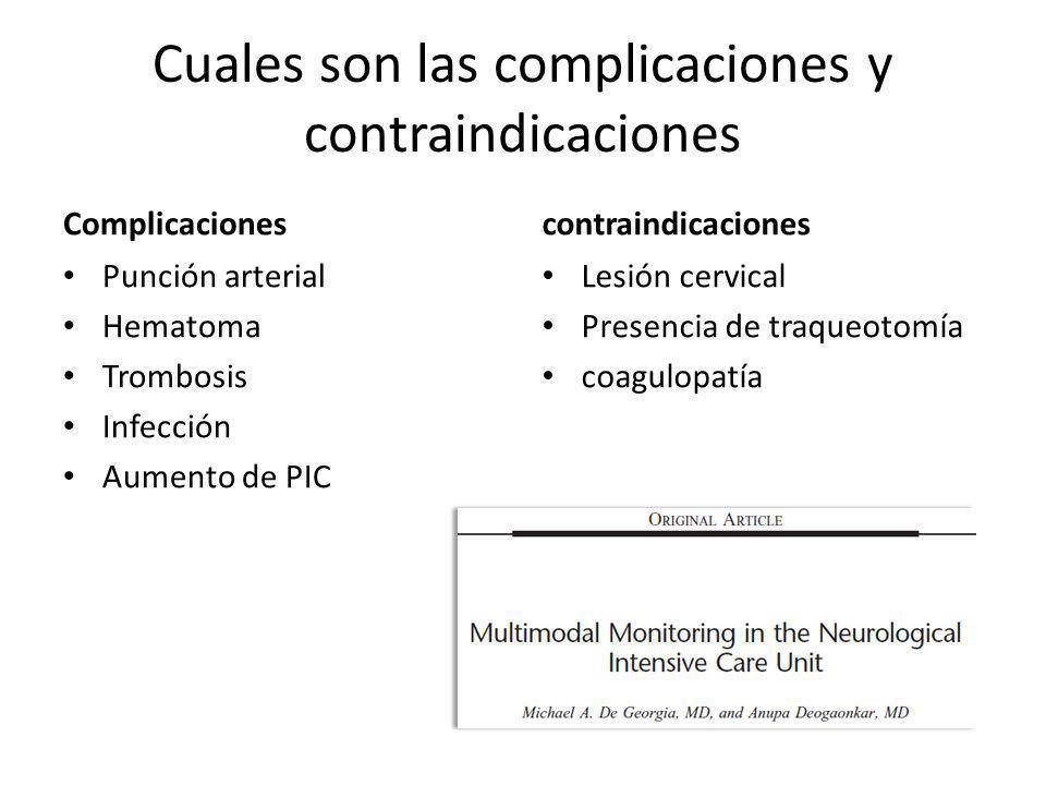 Cuales son las complicaciones y contraindicaciones
